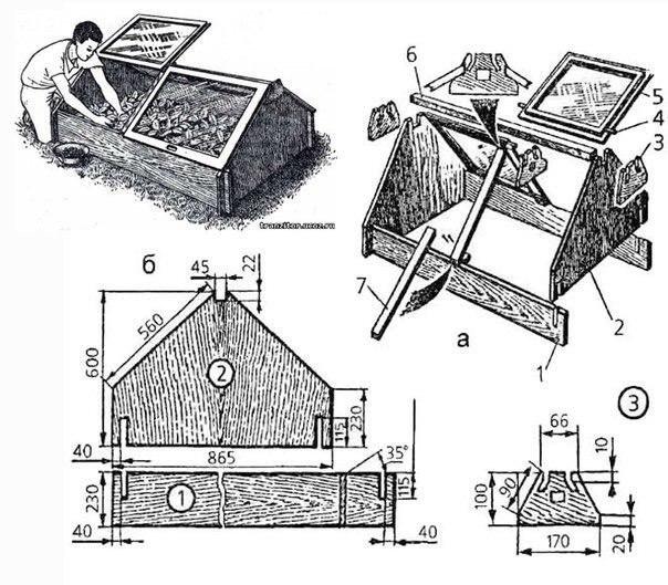 Удобная конструкция теплицы, которая собирается без единого